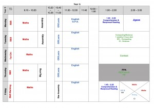 Autumn-2-Timetable-Y6-Oct