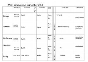 Timetable-September-Year-3