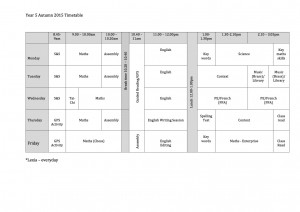 Year-5-Timetable